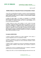 ADHENSION AL MANIFIESTO POR LA INTEGRACION DE PERSONAS CON DISCAPACIDAD EN EL DEPORTE