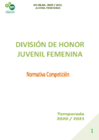 DIVISIÓN DE HONOR JUVENIL FEMENINA
