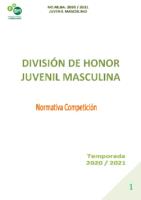 DIVISIÓN DE HONOR JUVENIL MASCULINA