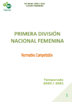 PRIMERA DIVISIÓN NACIONAL FEMENINA