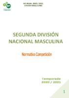 SEGUNDA DIVISIÓN NACIONAL MASCULINA