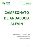 Normativa CADEBA Alevín 20-21