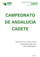 Normativa CADEBA Cadete 20-21 – modificada