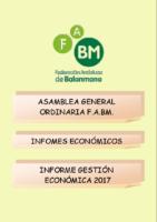 INFORME ECONOMICO 2017 PRESUPUESTO 2018