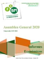 INFORME ECONOMICO 2019 PRESUPUESTO 2020